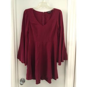 EXPRESS Red Boho Dress